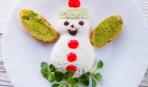 Зимний салат «Снеговик»