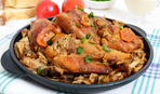 Кролик в сметанно-грибном соусе: рецепт вкусного ужина
