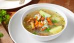 Постный суп с грибами и рисом