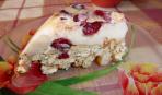 """Летний торт """"5-й элемент"""" из печенья с клубникой (без выпечки)"""