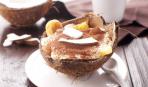 Десерт - тирамису с ананасами