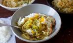Спагетти Pangrattato с xрустящим яйцом