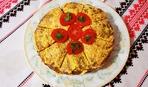Блюдо дня: печеночный торт под сырной корочкой