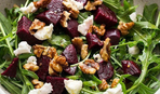 Салат из свеклы с чесноком и орехами