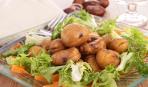 Осенний салат из каштанов
