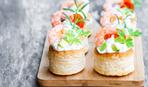 Праздничная закуска:  волованы с креветками от Эктора Хименес-Браво
