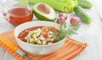 Холодный томатный суп с овощами
