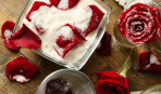 Декор для десертов: засахаренные лепестки роз
