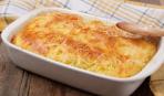 Картофельная запеканка с луком и сыром