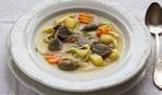 Суп из куриных сердечек с овощами