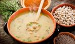 Суп из телятины с горохом нут