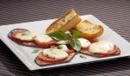 Салат из баклажанов с моцареллой