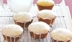 Яблочные кексы с медовой глазурью