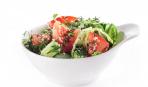 Салат из молодой капусты с огурцами и помидорами