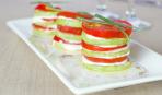 Аппетитные пирамидки из кабачков и помидоров