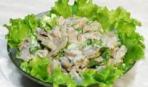 Салат из соленых огурцов с грибами