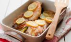 Запеченная белая рыба с лимоном и травами