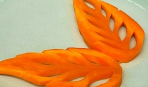 Листики из моркови