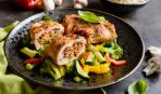 Куриный рулет с рисом и грибами: пошаговый рецепт