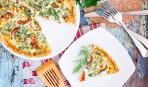 Блюдо дня: киш с беконом и шпинатом