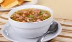 Суп из ветчины и фасоли