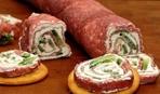 Рулет из салями со сливочным сыром