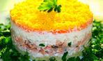 Торт-салат «Чародейка»: пошаговый рецепт