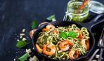 Блюдо дня: паста с креветками и песто
