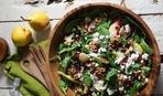 """Салат с грушей, шпинатом и зернами граната """"Жизель"""""""