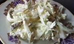 Салат из пекинской капусты с солеными огурцами