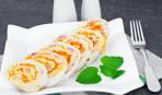 Просто и вкусно: закуска из лаваша с ветчиной