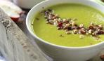 Яблочный суп с луком-пореем