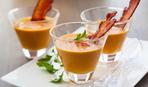 Томатно-тыквенный суп с беконом