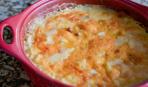 Картофель с грибами и фрикадельками под сыром