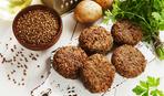 Вегетарианские гренки из гречки