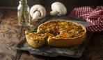 Киш с грибами и соусом «Пармезан»