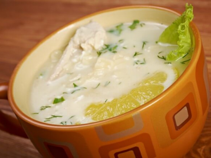 Греческий суп «Авголемоно»