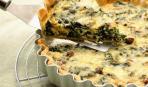 Пирог со шпинатом и грибами
