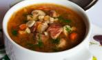 Мясной суп в микроволновке