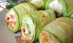 Кабачковые рулетики с рыбным салатом