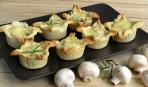 Идеальная закуска на Новый Год: грибной жульен в тарталетках
