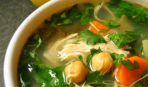Лимонный суп с курицей