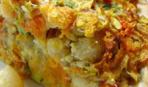 Открытый деревенский пирог на картофельном тесте