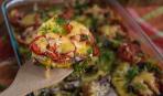 Кабачок, запеченный с сыром и помидорами