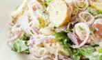 Салат с молодым картофелем и базиликом