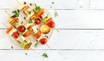 Овощи-гриль с адыгейским сыром