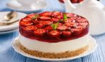 Клубнично-желейный тарт без выпечки