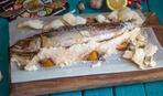 Скумбрия, запеченная в соляной шубке: пошаговый рецепт