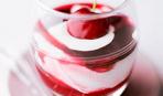 Творожно-йогуртовый десерт с вишней