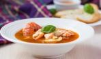 Рыбный суп с соусом руй